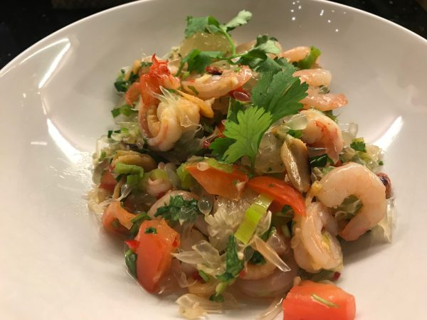 Pomelo-Salat Thai-Style